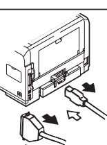 "switch of the printer. (""I"") Shutting off OFF ON Reconnecting (2) Do not disassemble the printer"