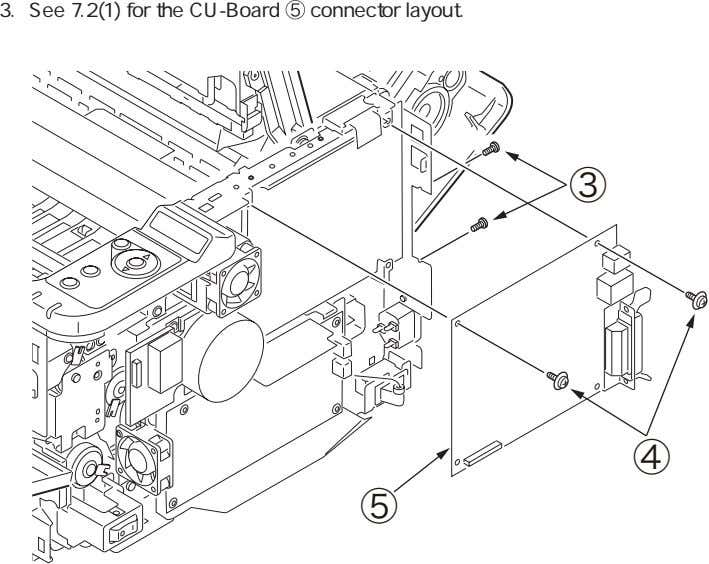 3. See 7.2(1) for the CU-Board connector layout. ③ ④ ⑤