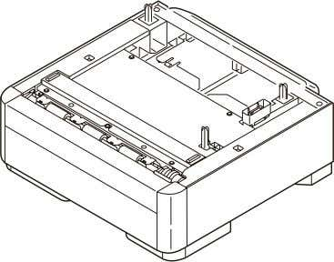 respectively for the printer main unit. (1) Second tray unit (2) Additionally installed memory (Domestic oriented