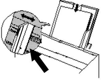 3. Place the paper into the paper tray with the side to be printed facing