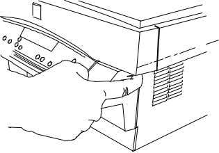 cartridge. 6. Close the front door. Paper Exit Area E3 Jam 1. To reduce the pressure
