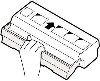 10. Carefully remove the sheet of black protective paper from the drum cartridge, making sure