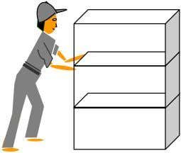 4. A boy pushes the boxes along a level walkway as shown in Diagram 4.1. The