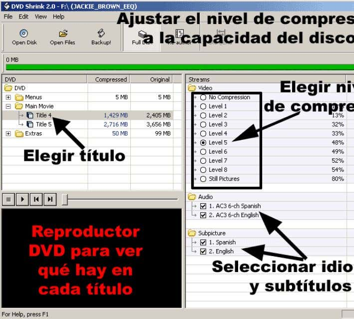DVDaDVD±R - Manual de DVD Shrink 2.0 Página 5 de 11
