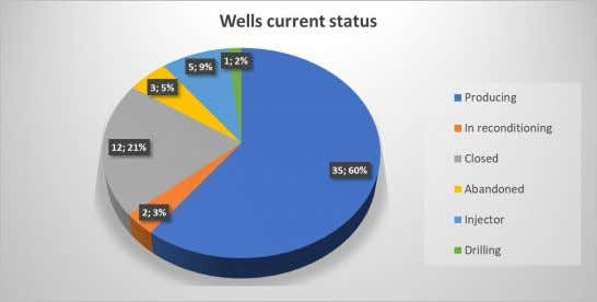 Palo Azul field description – Wells current status The following table shows the number and condition