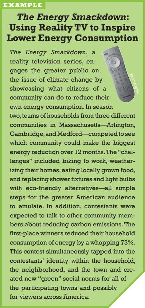 erich nagler example The Energy Smackdown: using Reality Tv to Inspire lower Energy Consumption The