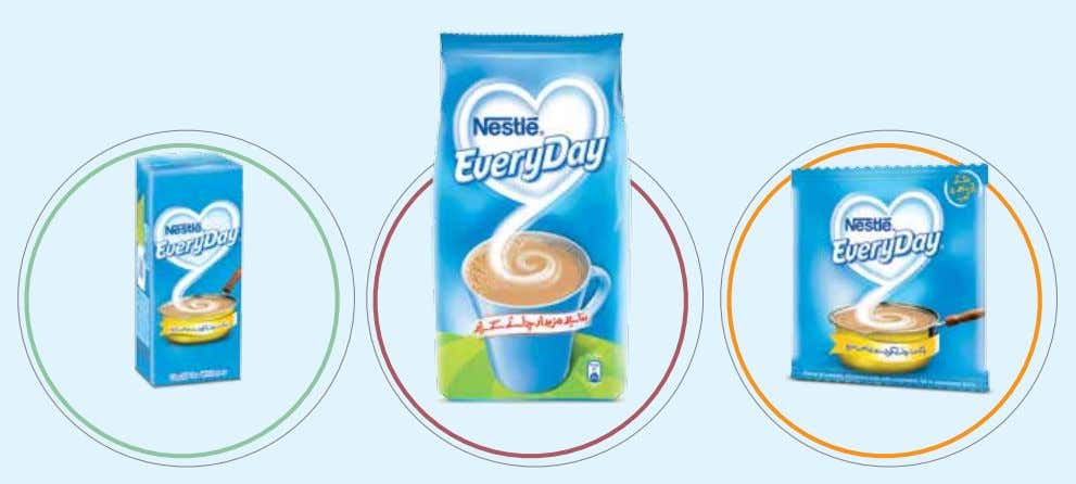 Ambient Dairy NESTLÉ EVERYDAY Be it the powder or liquid, NESTLÉ EVERYDAY delivers that same great
