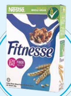 with whole grain corn, fortified with vitamins and minerals. Adult Weight Management: NESTLÉ FITNESSE is a
