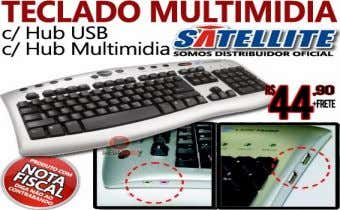 Headset R$ 25,00 Teclado Multimídia hub usb headset R$ 49.90