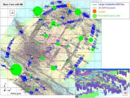 """objects"" Match to fracture intensity in vertical wells DFN model based on wellbore image data +"