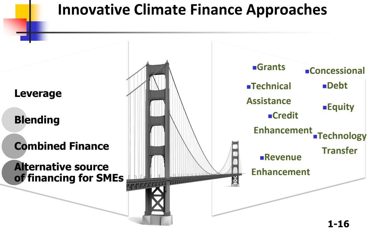 Innovative Climate Finance Approaches Grants Concessional Technical Debt Leverage Assistance Equity