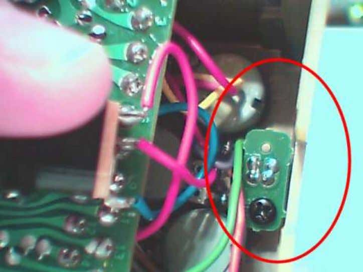 Lastly, you might want to change the LED on/off indicator. Unscrew the screw and pull