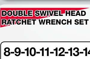DOUBLE SWIVEL HEAD RATCHET WRENCH SET