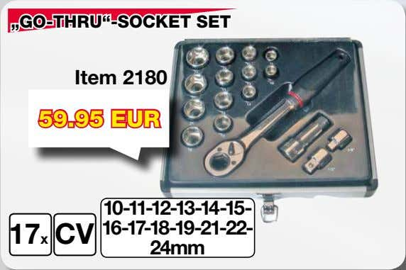 """GO-THRU""-SOCKET SET Item 2180 59.95 EUR 10-11-12-13-14-15- 16-17-18-19-21-22- 17x CV 24mm"