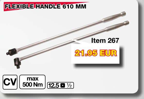 "FLEXIBLE HANDLE 610 MM Item 267 21.95 EUR max CV 500 Nm ""WOBBLE"" EXTENSION BAR SET"