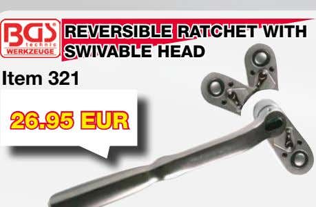 REVERSIBLE RATCHET WITH SWIVABLE HEAD Item 321 26.95 EUR CV 360° RATCHET WRENCH SET Item