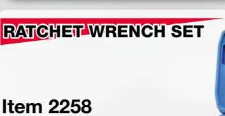 RATCHET WRENCH SET Item 2258