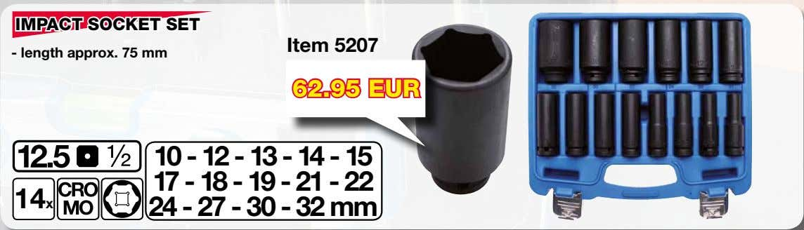 IMPACT SOCKET SET Item 5207 - length approx. 75 mm 62.95 EUR 10 - 12