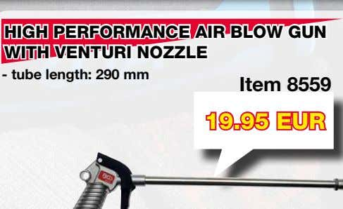HIGH PERFORMANCE AIR BLOW GUN WITH VENTURI NOZZLE Item 8559