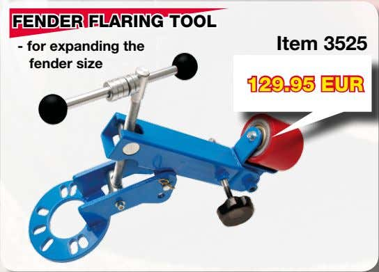 FENDER FLARING TOOL Item 3525 - for expanding the fender size 129.95 EUR