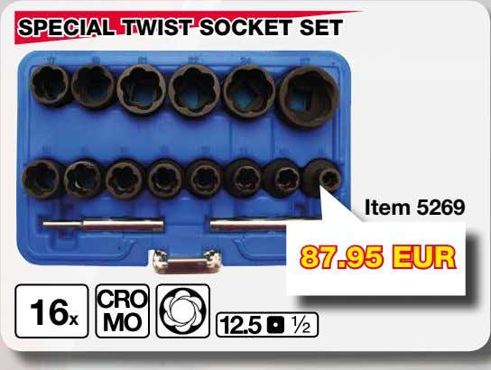 SPECIAL TWIST SOCKET SET Item 5269 87.95 EUR 16x