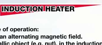 INDUCTION HEATER - Principle of operation: There is an alternating magnetic field. The metallic object