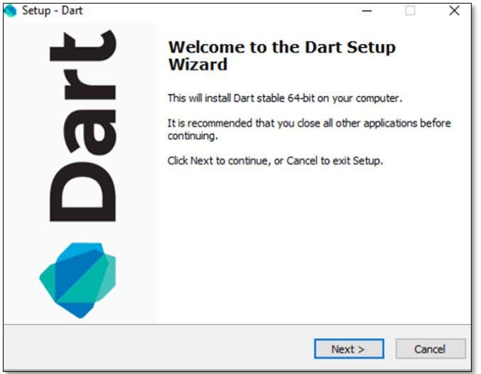 A screenshot of the Dart SDK installation is given below: On completion of the SDK installation,