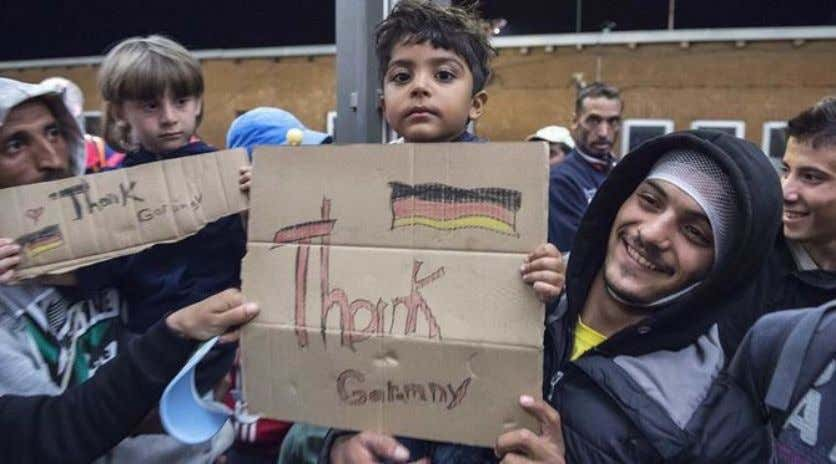 concerning certain groups in the event of crime . Syrian asylum seekers in Germany (Source: Arab
