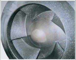 Stainless Steel - heavy wear after 11,000 operating hours Pumpenlaufrad aus SICcast ® -Mineralguss - kein