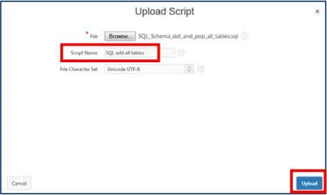 "17 You will see the uploaded Script listed on the ""SQL Scripts"" page in addition to"