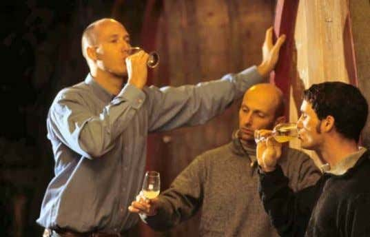 of time lasting three or four years, but sure will come. Wine testing (Picture: Fitz –