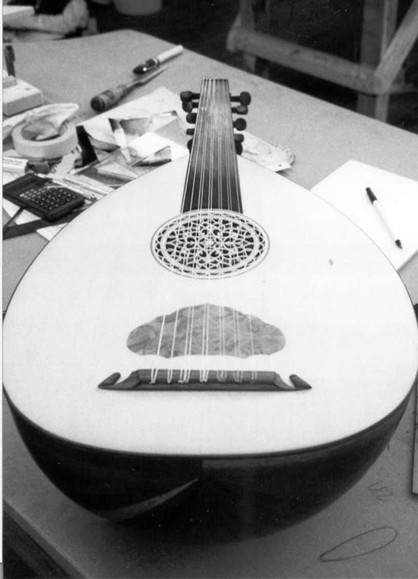 There is a growing tendency to add inlay work to the Oud , whose weight