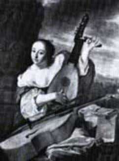 one playing Oud From St. Lawrence and St. Jerome. Hermitage. Bartholomeus vander Helst (1662): Musician The