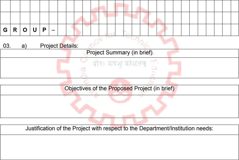 G R O U P – 03. a) Project Details: Project Summary (in brief) Objectives