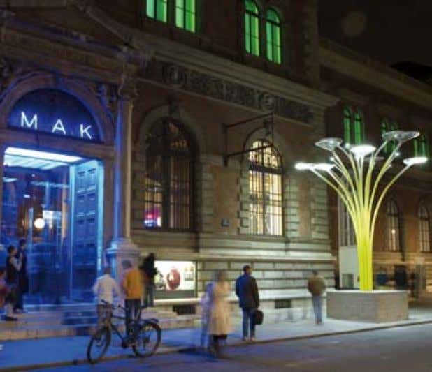 MAK, Vienna Solar Tree, designed by Ross Lovegrove Solar tree is a revolutionary urban lighting concept