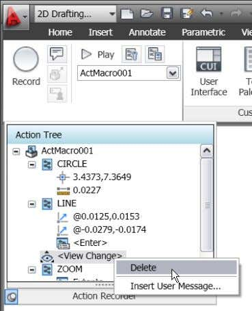 or insert user messages for View Change operations. Figure 22. View Change editing tools The macro