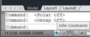 also available on the Geometric tab of the Constraint Settings dialog box. Figure 24. Infer Constraints