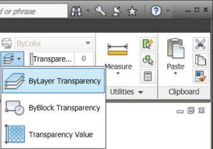 Figure 37. Object Transparancy options The SetByLayer Settings dialog has been updated to include Transparency