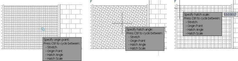 Figure 45. Direct manipulation hatch tools Other hatch grip behavior has not changed, except that