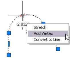 Figure 50. Direct manipulation polyline tools You can also activate the grip by clicking on it.