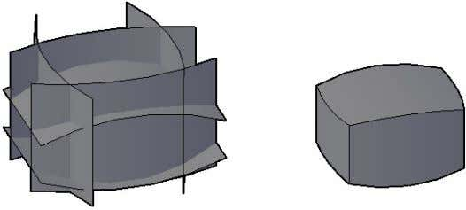 the enclosed volume of multiple intersecting surfaces. Figure 74. Surface sculpt The new Project Geometry