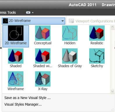 visual styles are easier to use than ever. Figure 13. Visual styles Object Visibility AutoCAD 2011