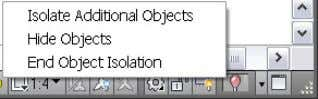 whether object isolation is active in the drawing. Figure 17. Object Isolation status icon In addition