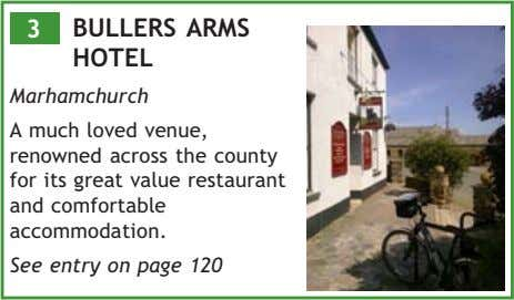 3 BULLERS ARMS HOTEL Marhamchurch A much loved venue, renowned across the county for its