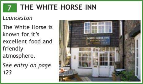 7 THE WHITE HORSE INN Launceston The White Horse is known for it's excellent food
