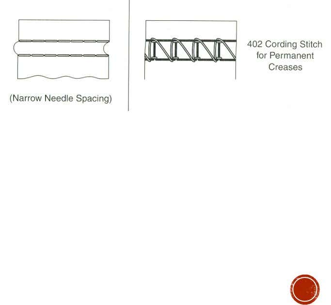 two parallel rows of stitching on the face of the fabric.  Examples:  Used for