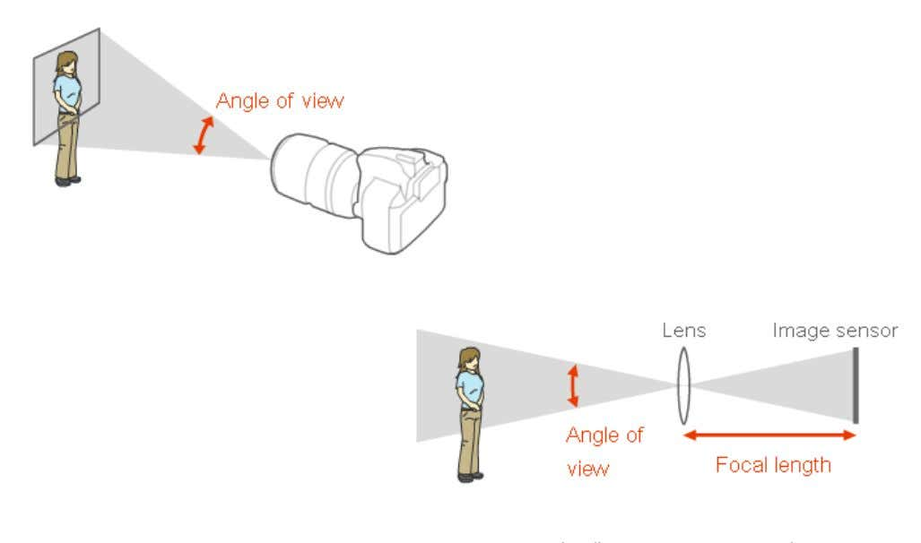 Lens%with%a%long%focal%length%(small%angle%of%view)%