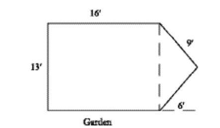Pretest Use the figure below to answer questions 15–16. 15. A landscaper needs to surround the
