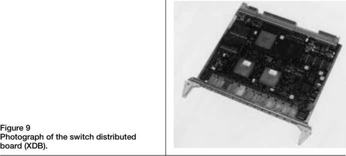 Figure 9 Photograph of the switch distributed board (XDB).