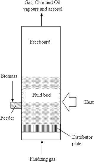 biomass feed particles, it was found that the particles size less Fig. 2. Process schematic for